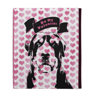 Valentines - Greater Swiss Mountain Dog Silhouette iPad Folio Cases