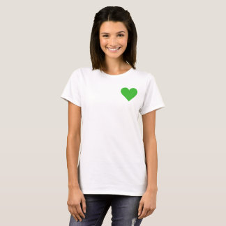 Valentine's Green Heart T-Shirt
