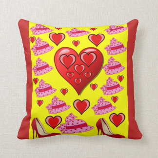 Valentines heart throw decorative pillow