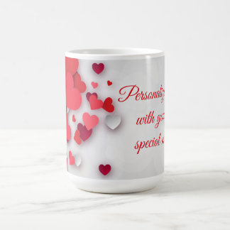 Valentines - Hearts - Personalise Coffee Mug
