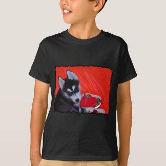 Valentine's Husky dog T-Shirt