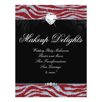 Valentines Jewelry Flyer Hair Salon Zebra Glitter