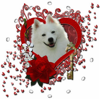 Valentines - Key to My Heart - American Eskimo Acrylic Cut Outs
