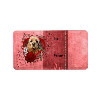 Valentines - Key to My Heart - Cocker Spaniel Address Label