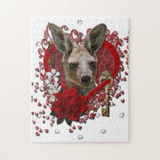 Valentines - Key to My Heart - Kangaroo Jigsaw Puzzles