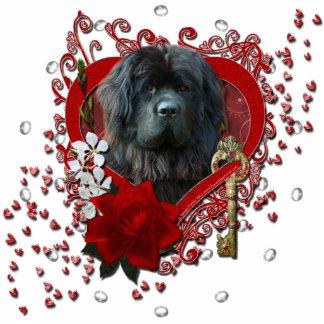 Valentines - Key to My Heart - Newfoundland Standing Photo Sculpture