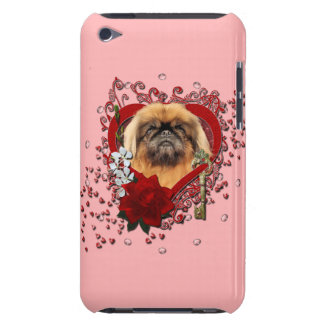 Valentines - Key to My Heart - Pekingese - Pebbles iPod Case-Mate Cases