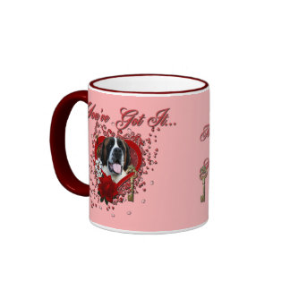 Valentines - Key to My Heart - Saint Bernard - Mae Mugs