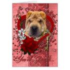 Valentines - Key to My Heart - Shar Pei Card