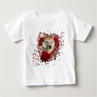 Valentines - Key to My Heart Siberian Husky Copper Tee Shirt