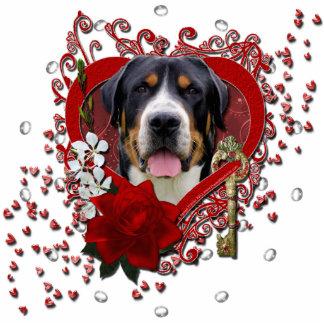 Valentines - Key to My Heart - Swissie Standing Photo Sculpture