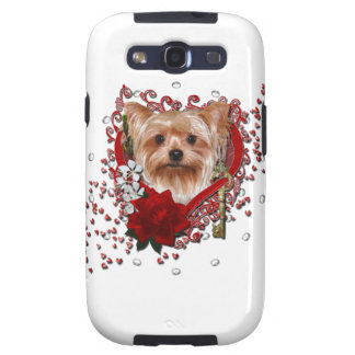 Valentines - Key to My Heart - Yorkshire Terrier Galaxy S3 Case