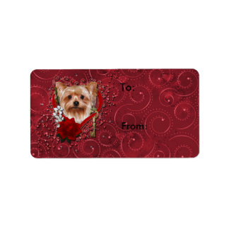 Valentines - Key to My Heart - Yorkshire Terrier Address Label