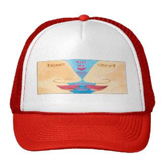 Valentine's Kiss Me Quick Mesh Hats