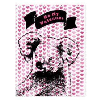 Valentines - Koala Bear Silhouette Postcard