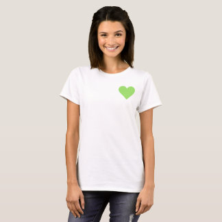 Valentine's Lime Green Heart T-Shirt