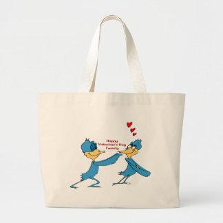 Valentine's Love Birds Canvas Bag