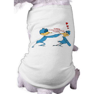 Valentine's Love Birds Doggie Tshirt