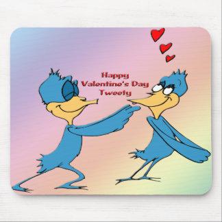 Valentine's Love Birds Mouse Pad