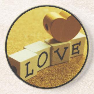 Valentines love coasters