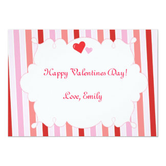 Valentines Love Day Hearts Greeting Card 13 Cm X 18 Cm Invitation Card