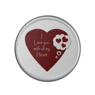 Valentine's love heart speaker