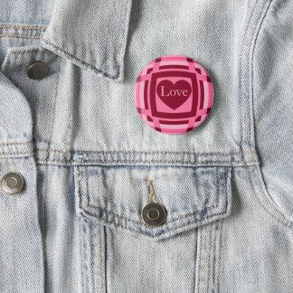 Valentines love pattern 6 cm round badge