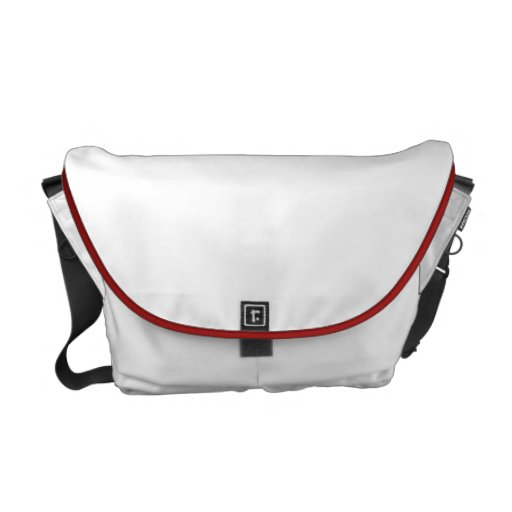 Valentines Love Pouch Overnight White Red Trim Commuter Bags