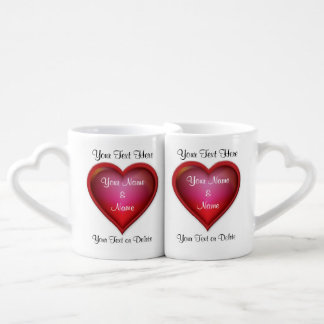 Valentines Mugs for Her and Him PERSONALIZED