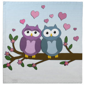 Valentines owls napkin