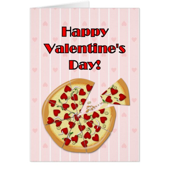 Valentine's Pizza Card