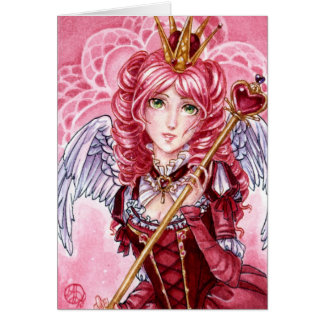 Valentines Queen of Hearts card
