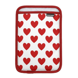 Valentine's Red Love Hearts, iPad Mini Sleeve