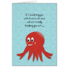 Valentine's Red Octopus Card