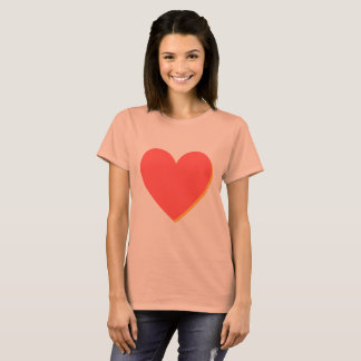 Valentine's Red Orange Heart T-Shirt