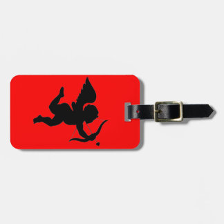 Valentines s Day Gift Cupid Silhoutte Travel Bag Tags
