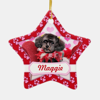Valentines - ShihPoo - Maggie Christmas Tree Ornament