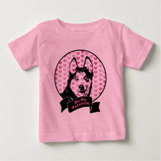 Valentines - Siberian Husky Silhouette T-shirt