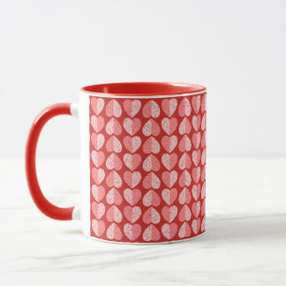 Valentines Speckled Two Tone Hearts Mug