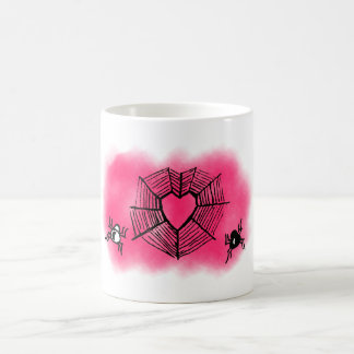 Valentine's spider web coffee mug