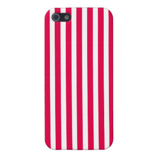 Valentines Stripes in Lipstick Pink and White iPhone 5 Cases