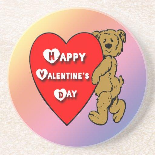 Valentine's Teddy Bear Coaster