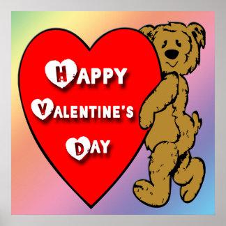Valentine's Teddy Bear Poster
