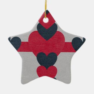 Valentine's Texture Design Ceramic Star Decoration
