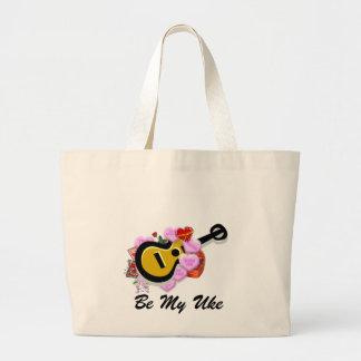 Valentine's Ukulele Large Tote Bag