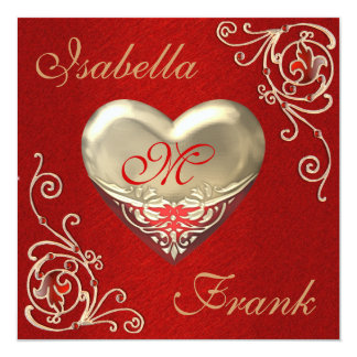 Valentines Wedding Invitation with Gorgeous Heart