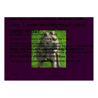Valentino-Cirino_019-1, campo cane corso bread ... Pack Of Chubby Business Cards