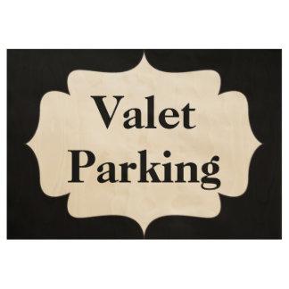Valet Parking Wood Poster