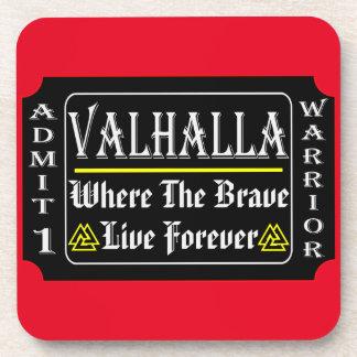 Valhalla Admit 1 Warrior Where The Brave May Live Coaster