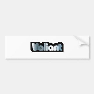 Valiant Bumper Sticker
